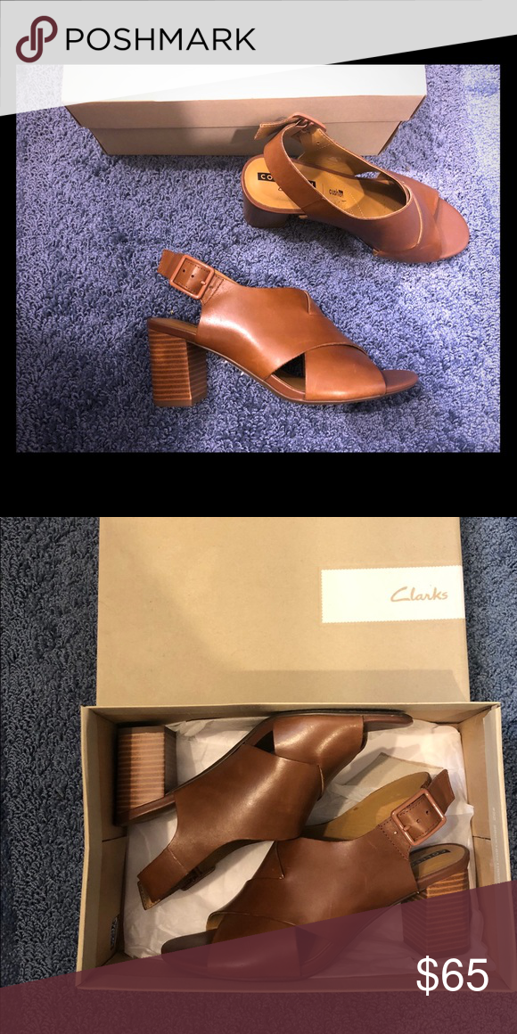 f074353606b Clarks Collection 6.5 Deva Janie Tan Leather - perfect condition ...