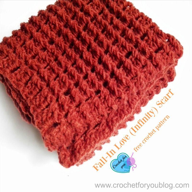 Fall-In Love (Infinity) Scarf - free crochet pattern   Pinterest
