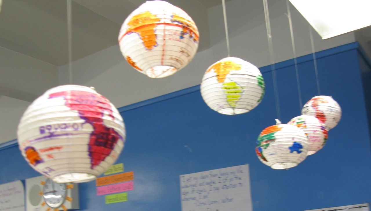 Five projects to juice up geography paper lanterns for Papier mache lanterns