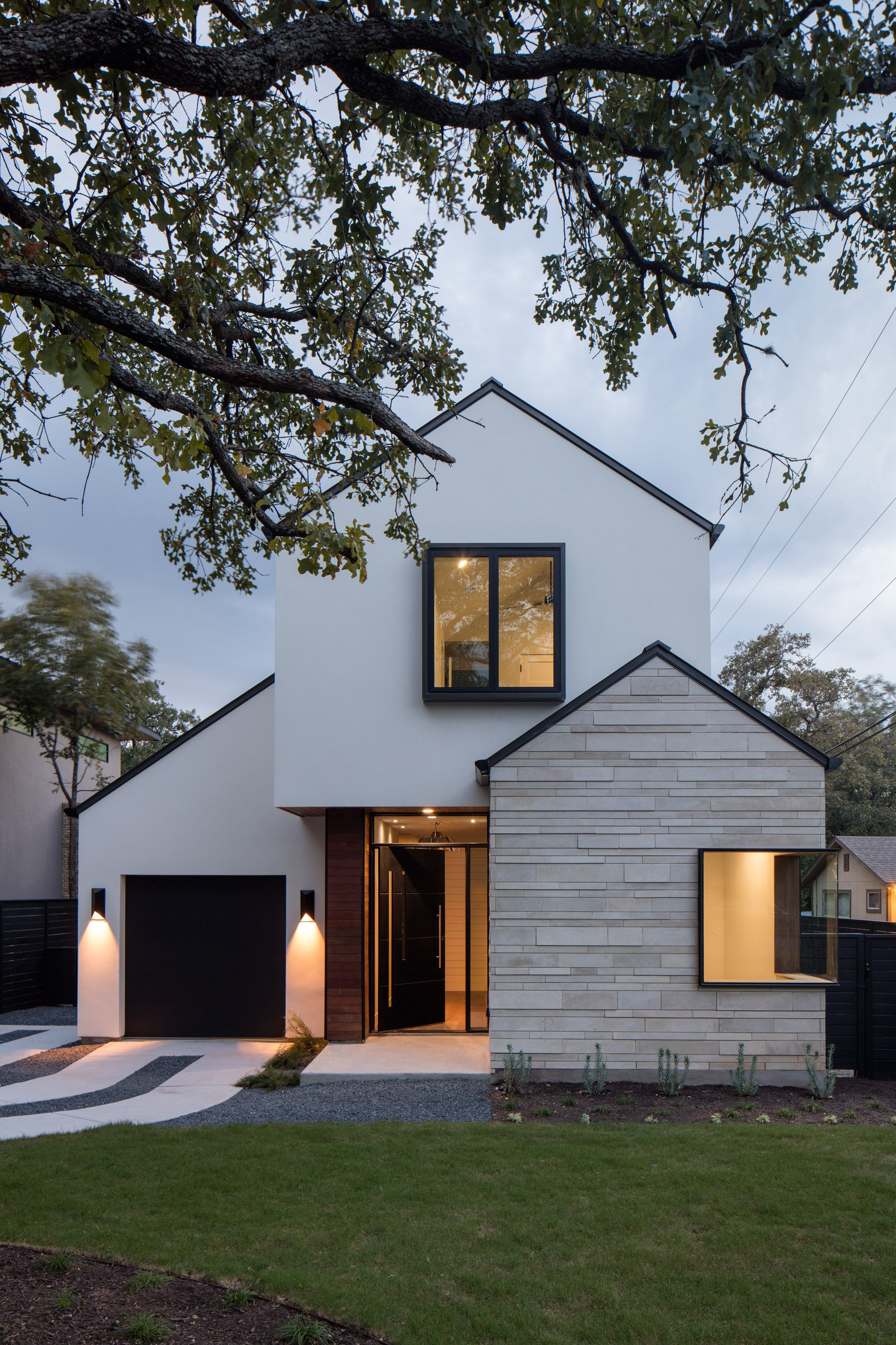 Gabled home in Austin by Dick Clark Associates references ...