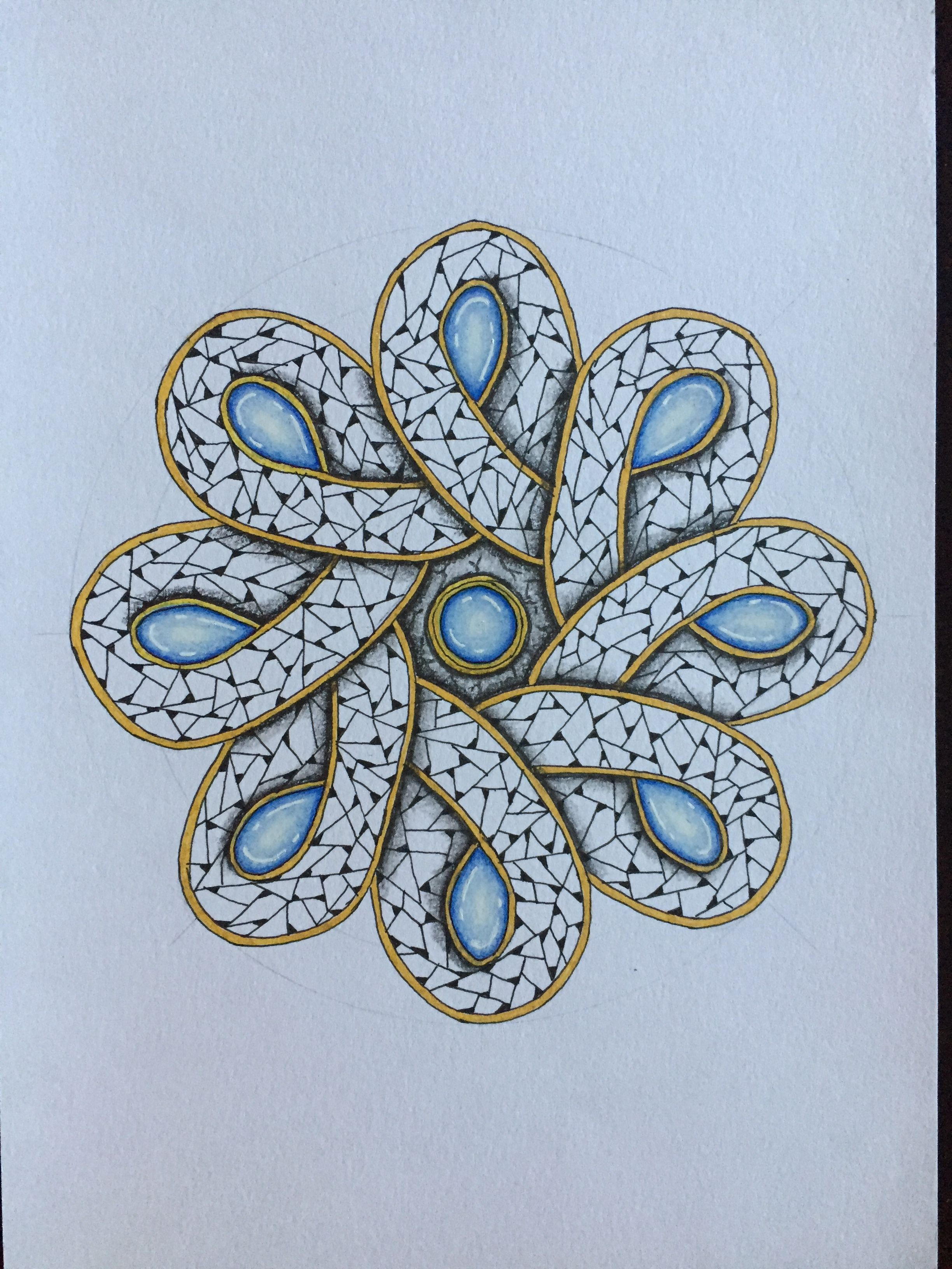 Mandala Zentangle Gems mandala zentangle gems