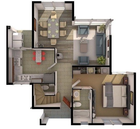 Plano de casas tipo chalet de 4 dormitorios planos para for Planos de chalets