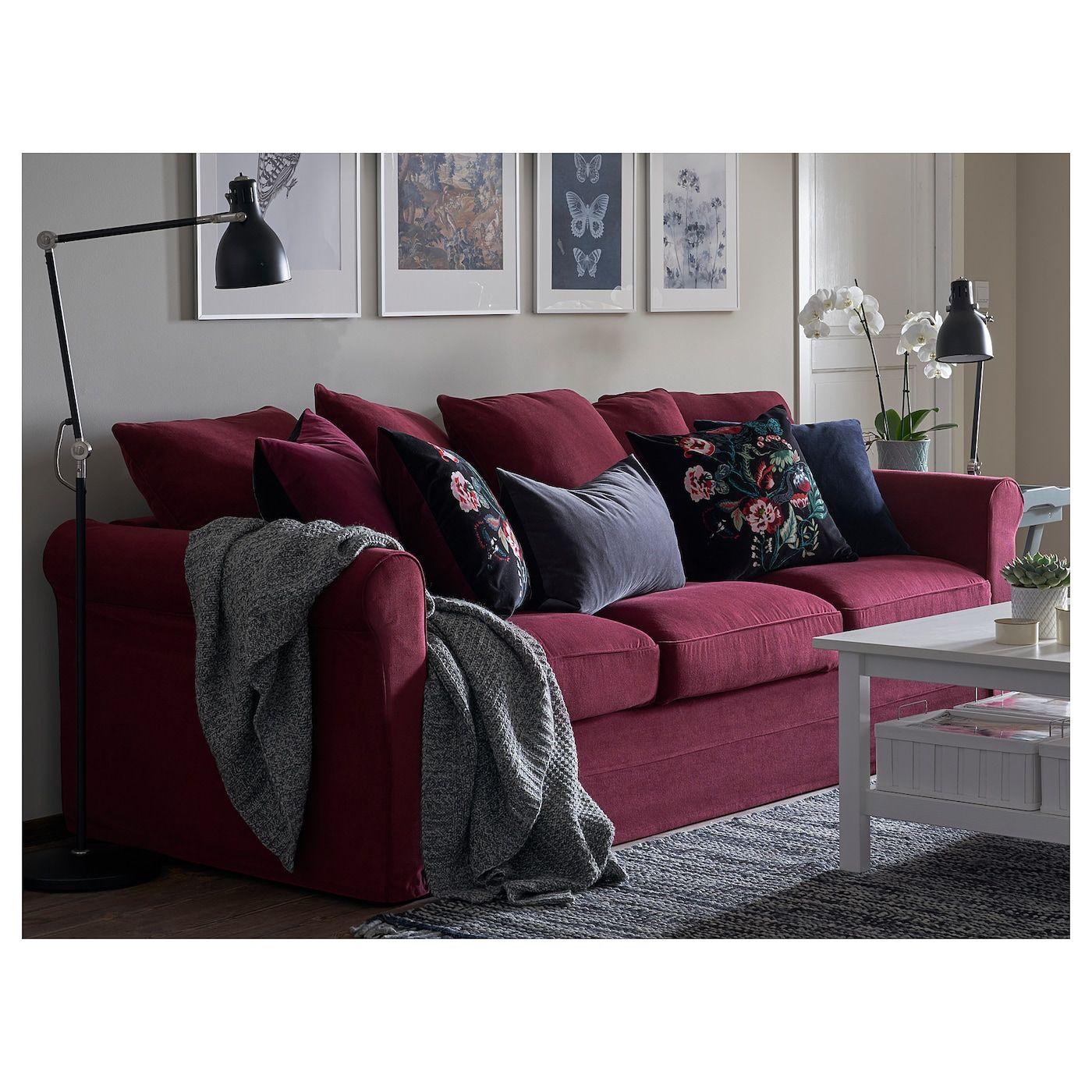 Ikea Gronlid Sofa Ljungen Dark Red Red Sofa Living Room Burgundy Living Room Red Couch Living Room