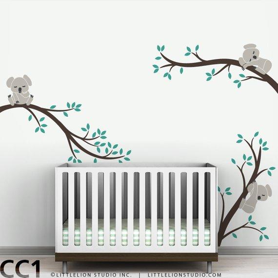 koala wall decal baby nursery modern decor removable wall sticker