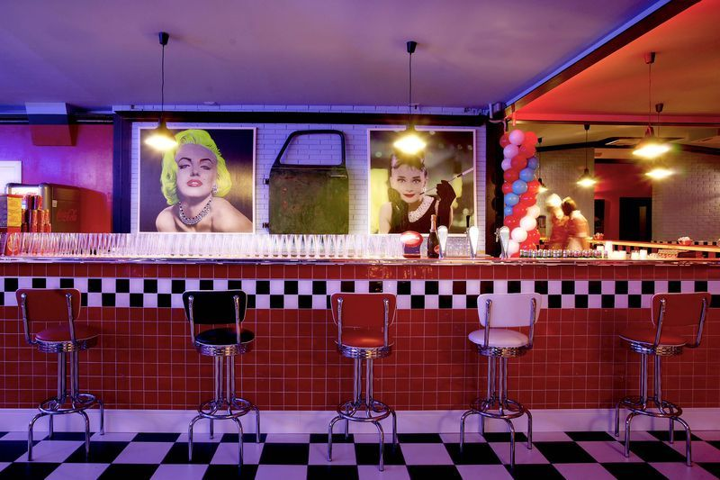 Like a Rock Like a Roll | Indira Cassano: Lanchonetes antigas & bacanas: 50's American Diner
