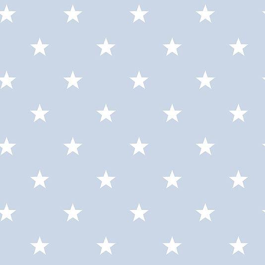 Deauville Stars Wallpaper Childrens Wallcovering In Pale Blue Blue Star Wallpaper Star Wallpaper Baby Blue Wallpaper
