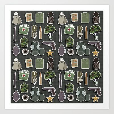 Military Meal Art Print by Matt Andrews