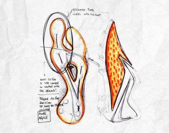 Design Sketches For The New Nike Hypervenom Soccer Cleats Shoe Design Sketches Soccer Boots Football