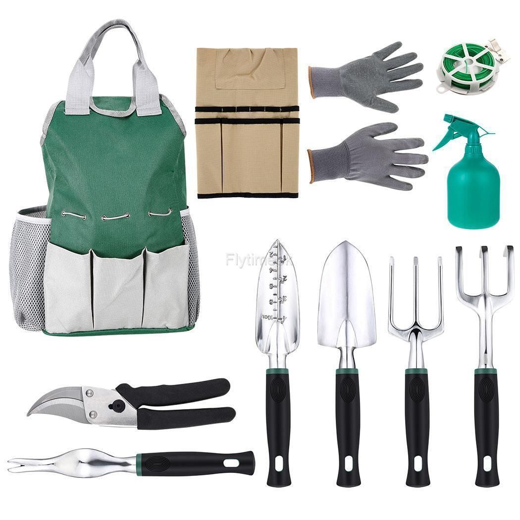 Garden Plant Tool Set Gardening Tools Organizer Tote Kit Lawn Yard