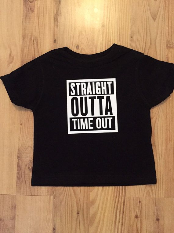 5dc8fcac Straight Outta Time Out Shirt Kid's Graphic Tee by MaywindMarket ...