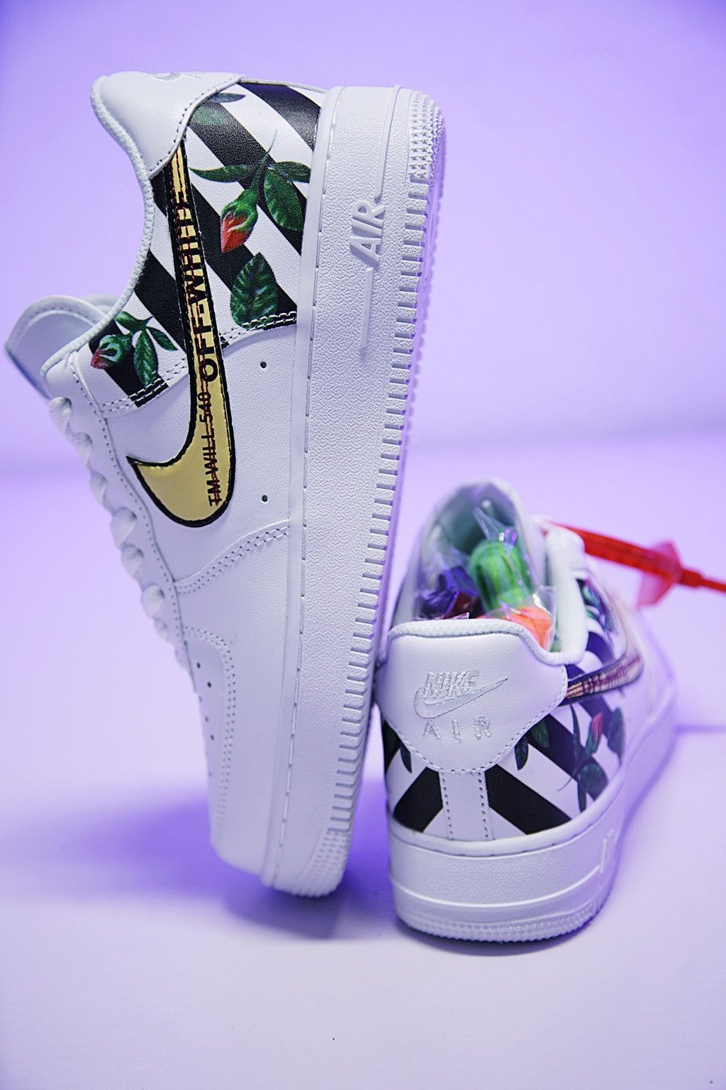 d1c0081b3b65e NIKE AIR FORCE 1 LOW OFF WHITE CUSTOM SNEAKER 008243280 ...