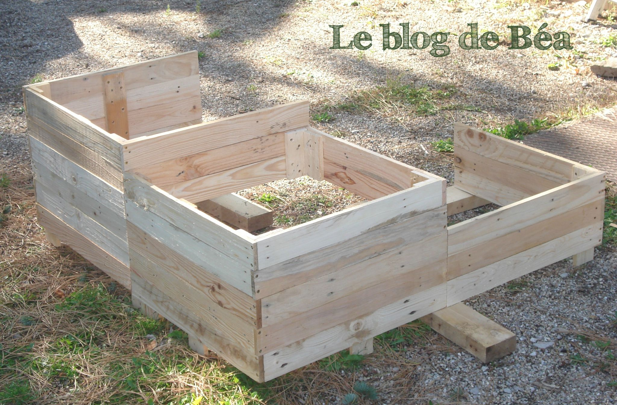 diy carr potager en bois de palette le blog de b a jardins carr potager bois palette. Black Bedroom Furniture Sets. Home Design Ideas