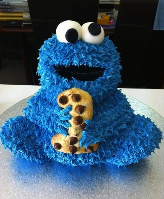 Cookie Monster Birthday Cake  DiyCakeTarts  Pies
