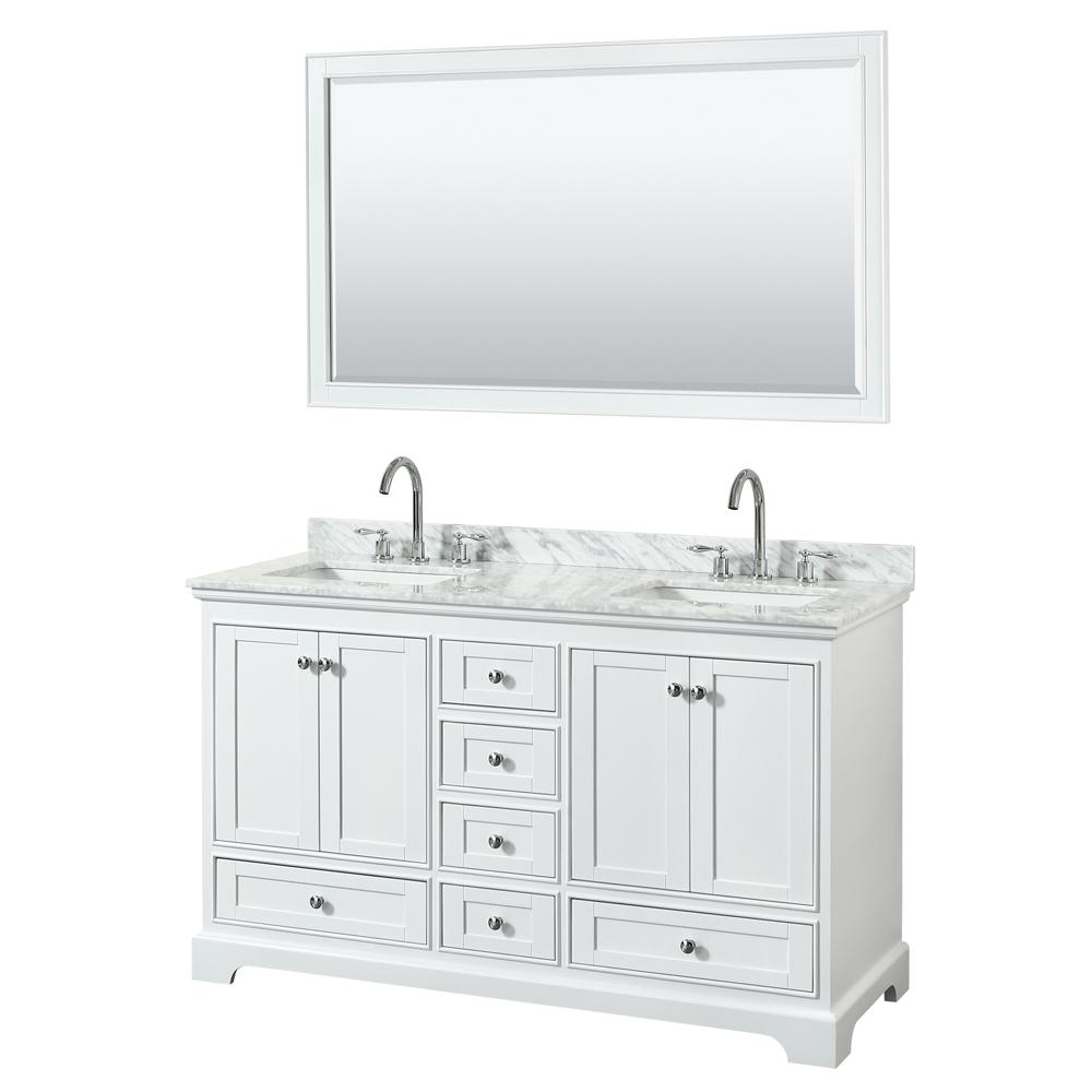 Wyndham Collection Deborah 60 In W X 22 In D Vanity In White