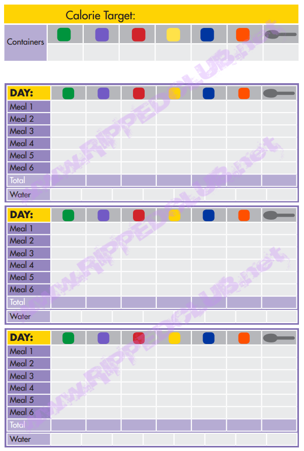Fix 21 Day Meal Plan Template | 21 Day Fix Nutrition Plan