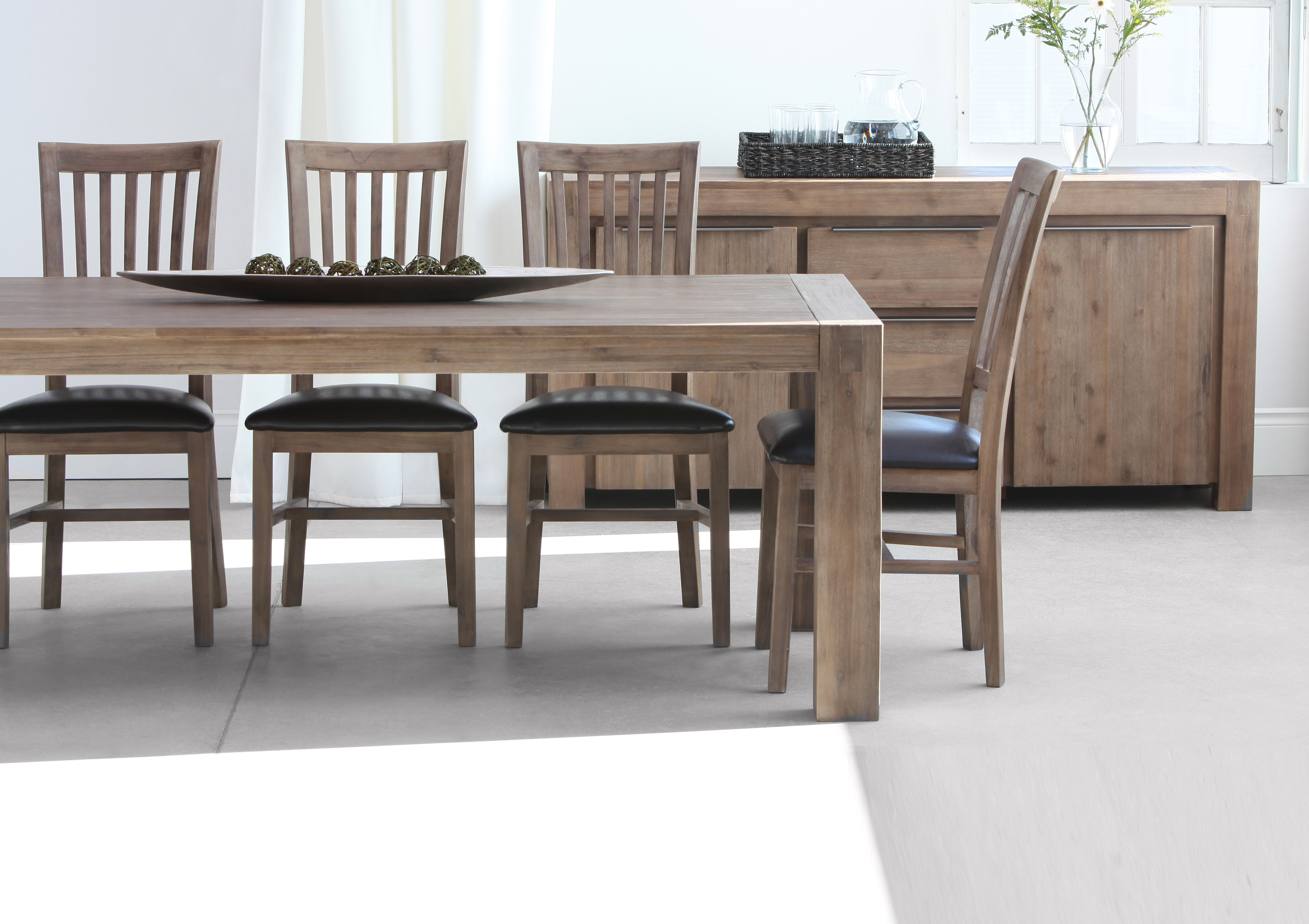 Magnificent Grey Acacia Wood Dining Table 200Cm 79 Structube Dailytribune Chair Design For Home Dailytribuneorg