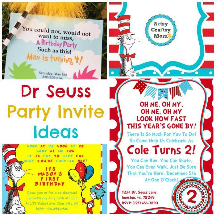 30 Ideas for the Perfect Dr Seuss Party | Party invitations
