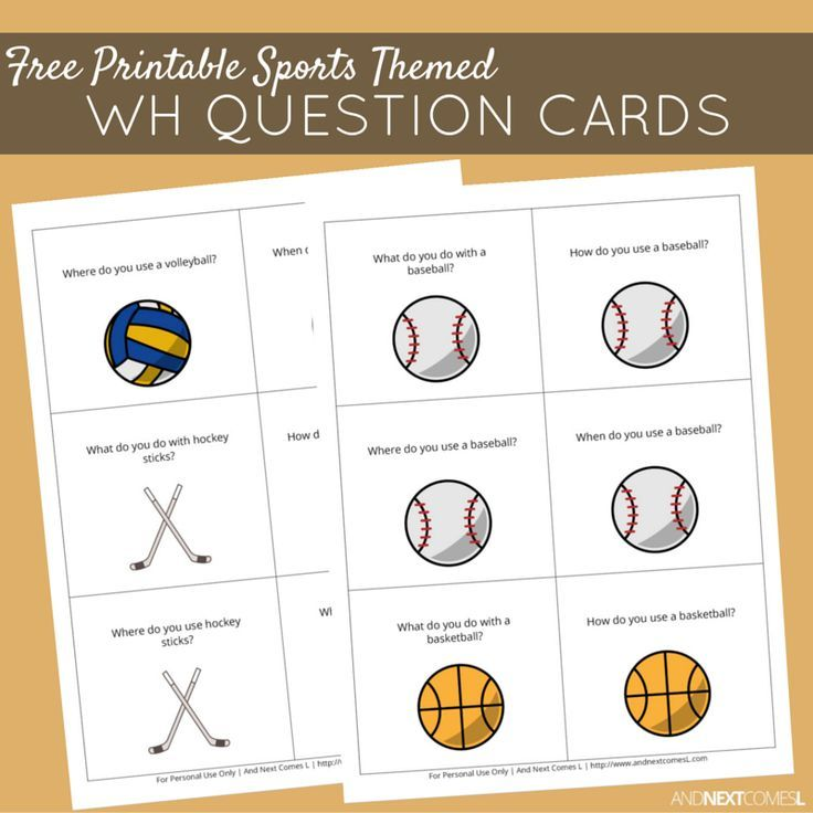 Free Printable Sports Themed Wh Question Cards Sports Activities For Kids Printable Sports This Or That Questions