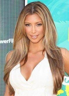 Best Hair Color With Olive Skin Tone Recherche Google Hair Styles Long Hair Styles Kim Kardashian Blonde