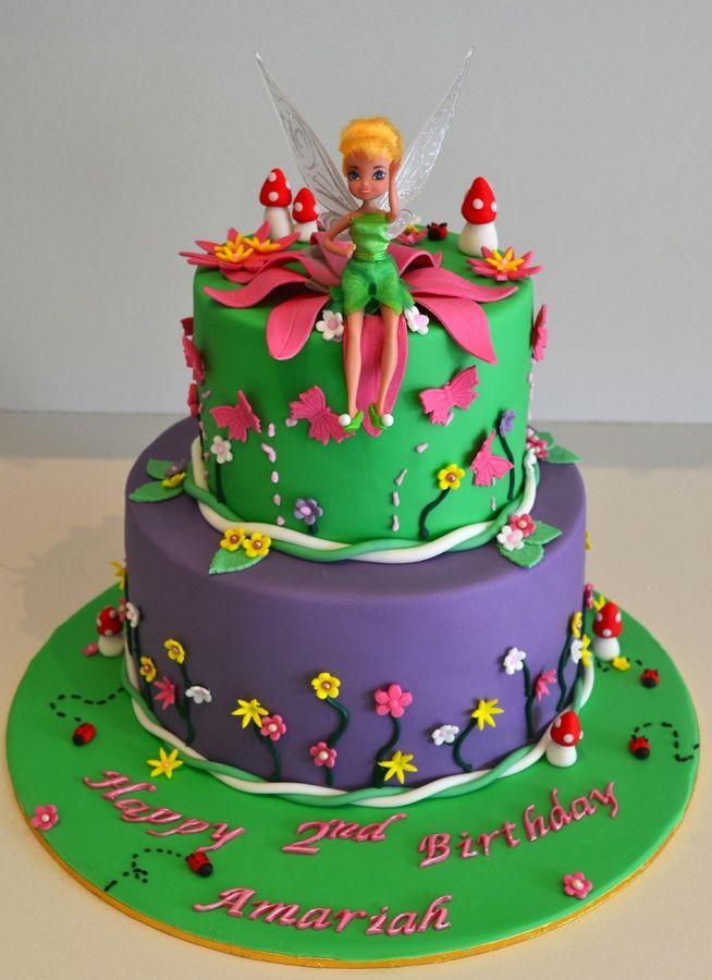 Tinkerbell Themed Birthday Cake Children S Birthday Cakes Tinkerbell Cake Themed Birthday Cakes Cake
