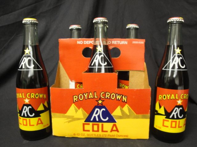 Awesome Vintage Six Pack Of Royal Crown RC Cola In