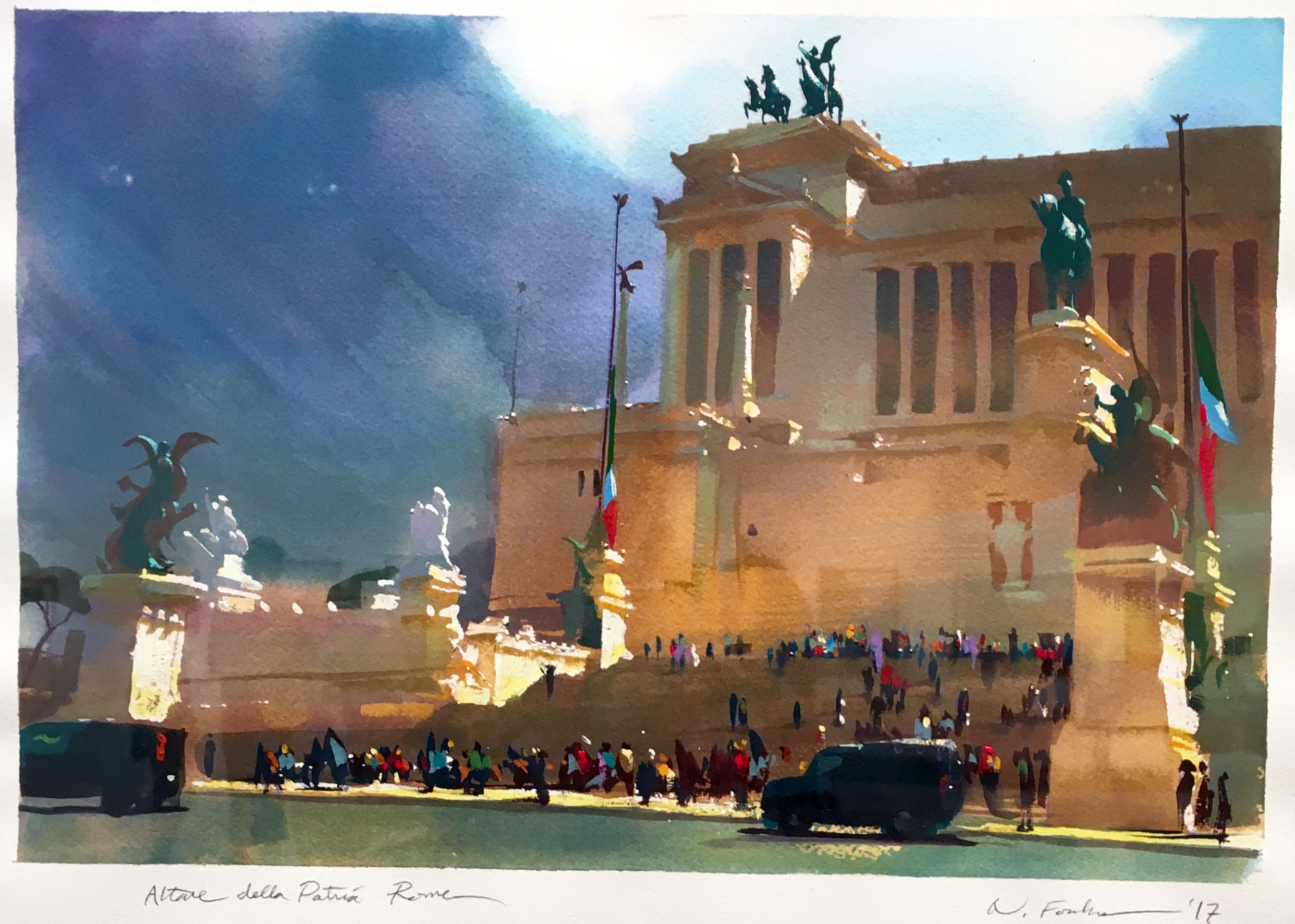 Nathan Fowkes Rome Watercolor And Gouache Aquarelle Plages