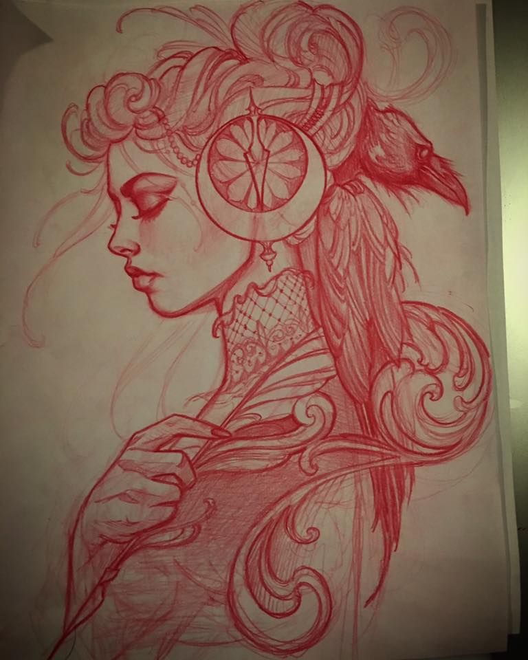 Best 25 Pencil Tattoo Ideas On Pinterest: Sketch For Todays Tattoo. A Writer And A Raveninsta