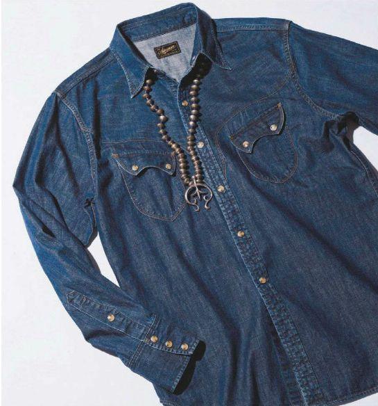06501f3d4a Stevenson Overall Co.2016 Collection. Cody Western Shirt.  Indigo ...