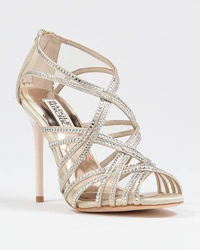 3d704338b159 Gloria rhinestone evening shoe by Badgley Mischka  rhinestones  crystals   weddingshoes  bridal