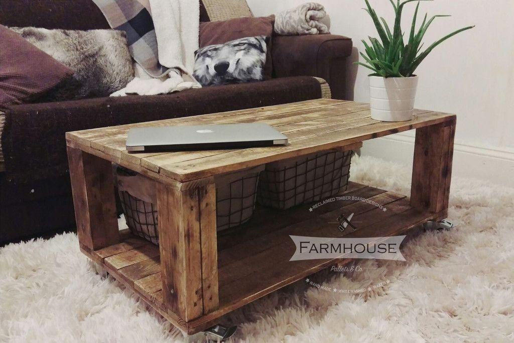 Rustic Pallet Coffee Table 'AHVIMA'