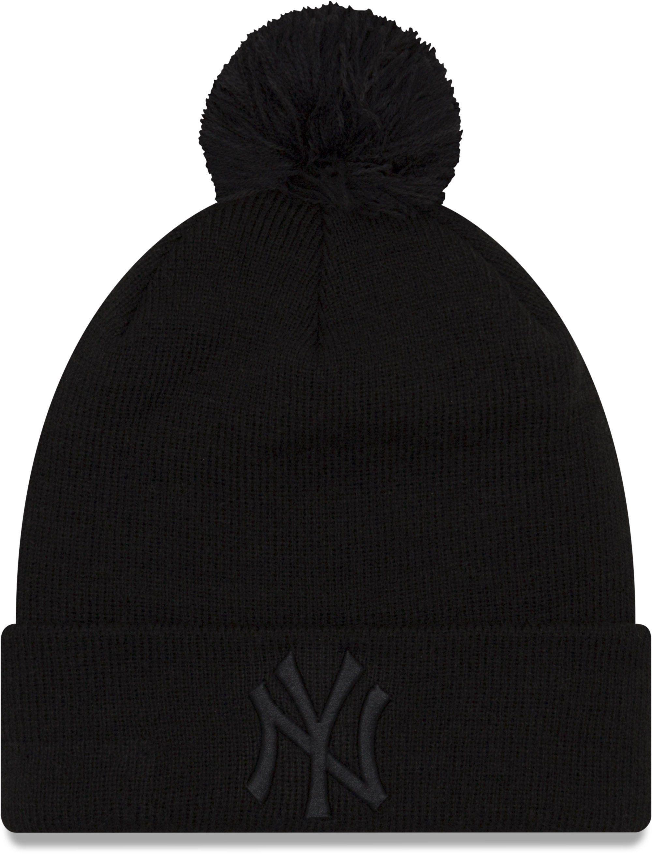 NY Yankees Womens New Era Essential Knit Black Bobble Hat en 2019 ... d5aeb625fc2