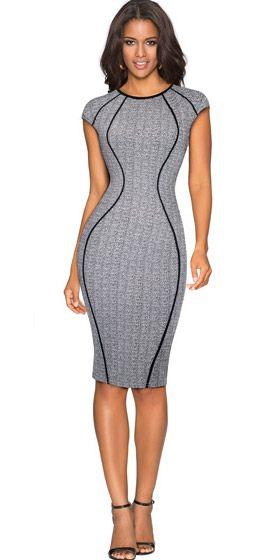 282ce67433 Compre Vestido Tubinho Com Recorte Geometrico Que Emagrecem