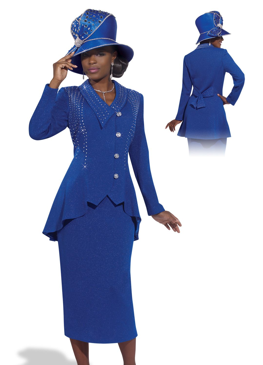 Classy Lady In Royal Blue By Donna Vinci Knits 2987 349 00 Spring
