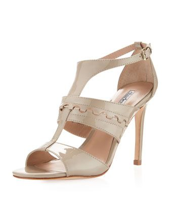 Totally versatile . . .Rapture Patent Leather Sandal, Fossil by Charles David at Last Call by Neiman Marcus.