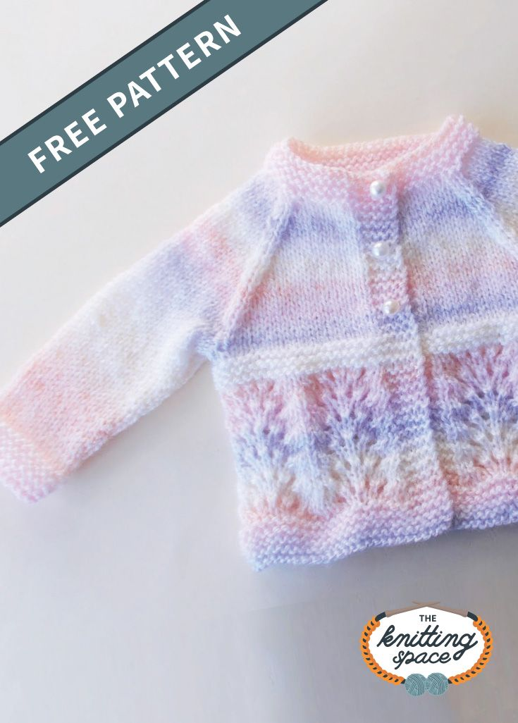 Waves Knitted Baby Cardigan [FREE Knitting Pattern]