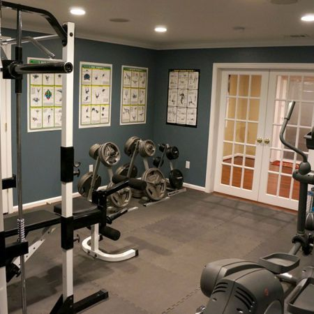Photos: featured basement remodel basements home gym basement