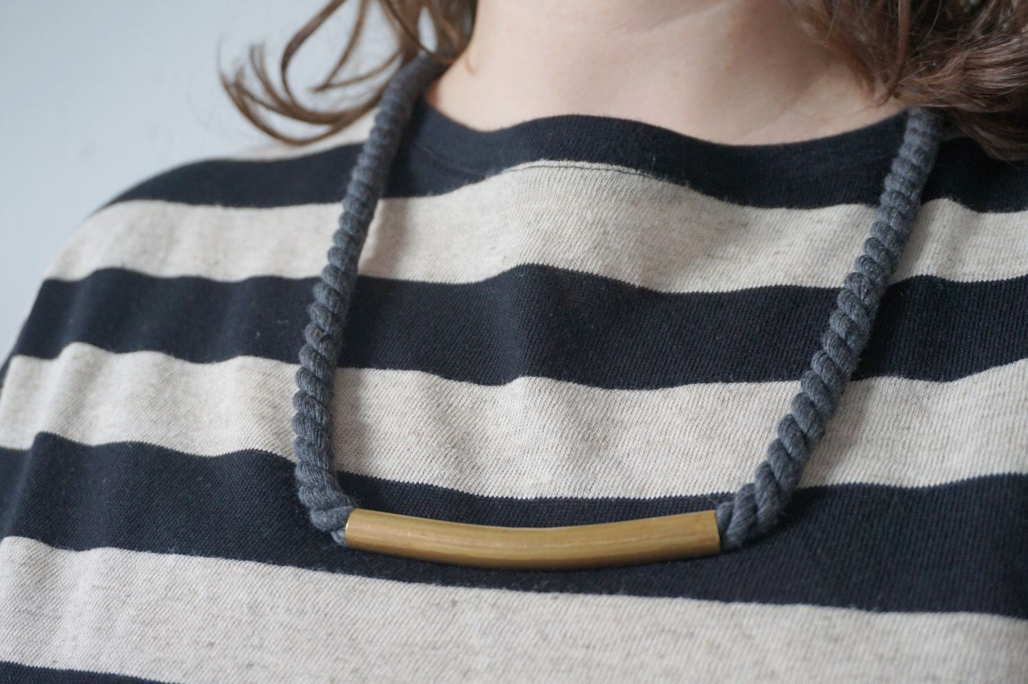 A personal favourite from my Etsy shop https://www.etsy.com/nl/listing/268263316/the-ropes-necklace-twisted-cord-with
