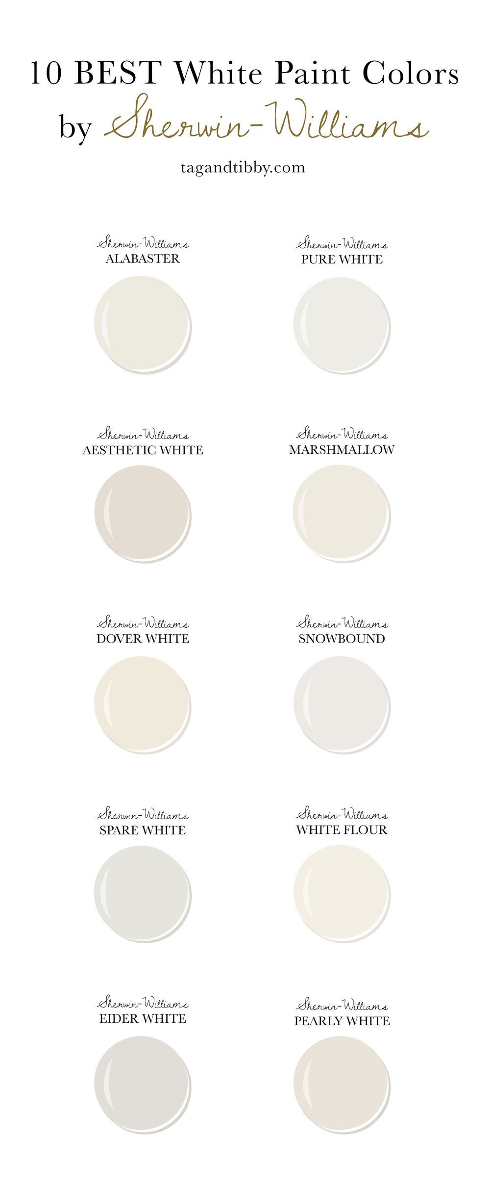 10 Best White Paint Colors By Sherwin Williams Off White Paint