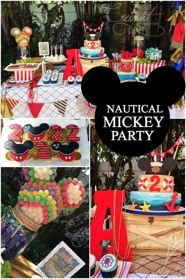 nautical Mickey birthday party ideas wwwshipsandlaserbeams - mickey mouse boy birthday party ideas