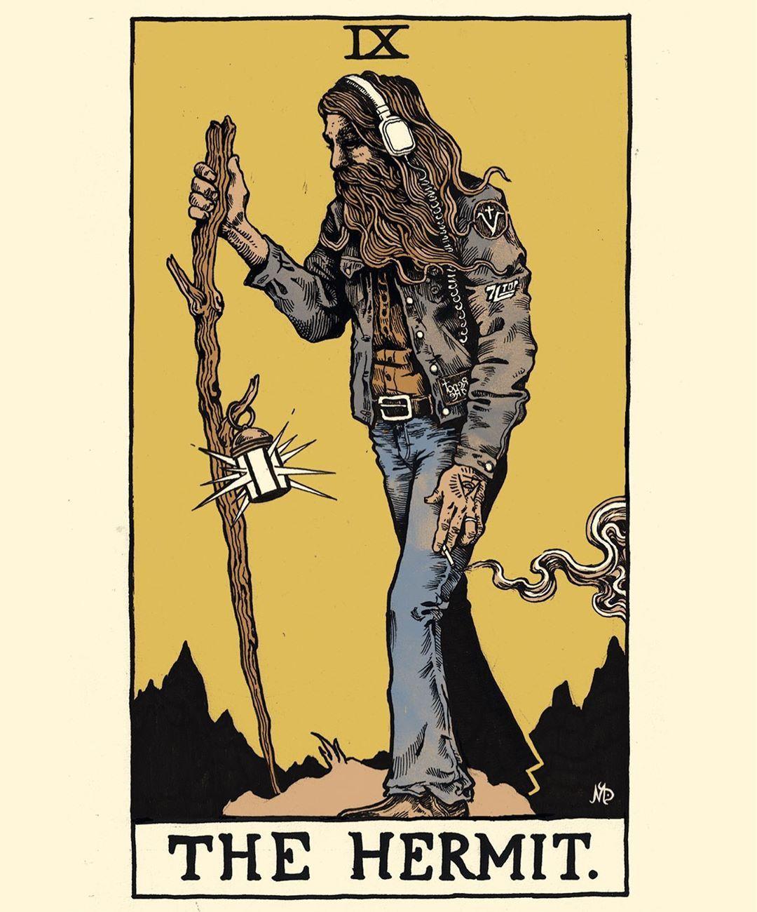 Ix the hermit tarot interpretation tarot cards art tarot