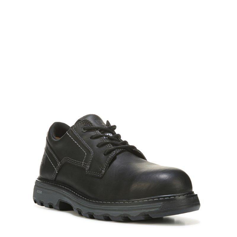 7e255c39273f Caterpillar Men s Tyndall Medium Wide Steel Toe Slip Resistant Work Shoes  (Black Leather)