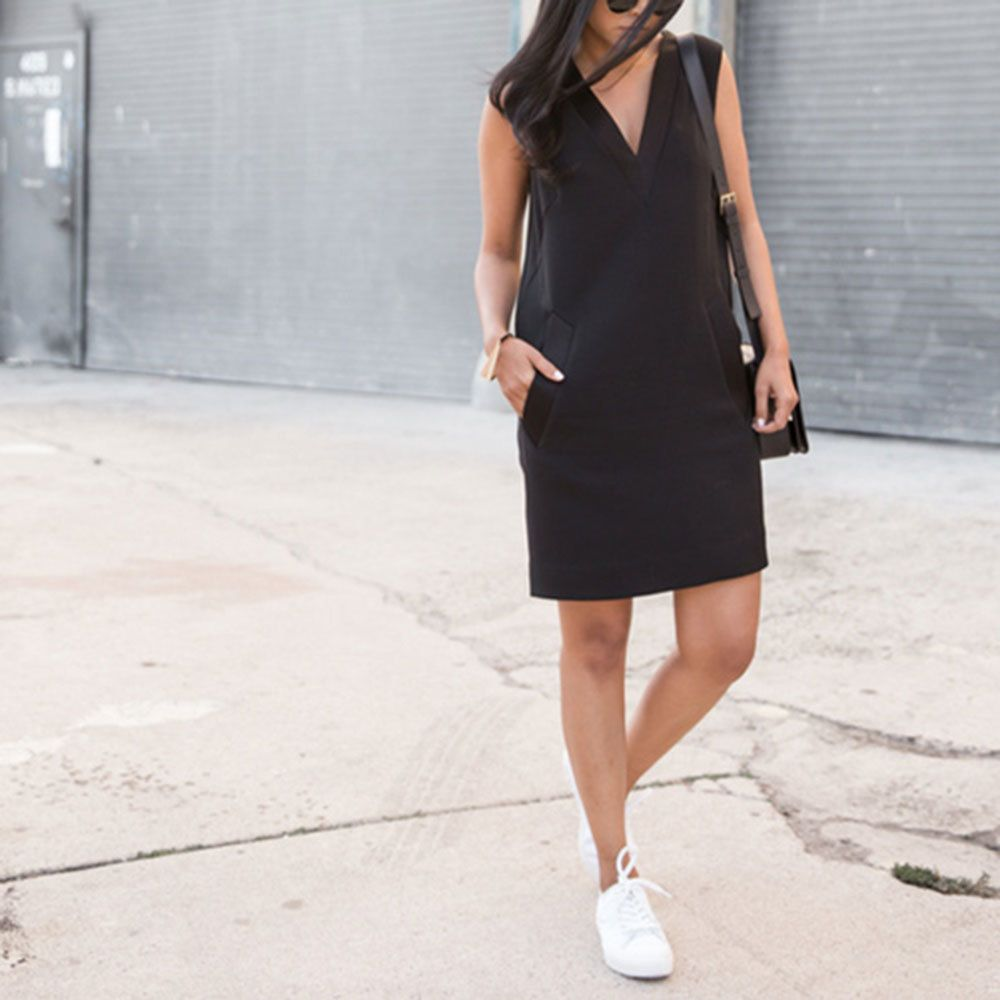 Dresses with tennis shoes