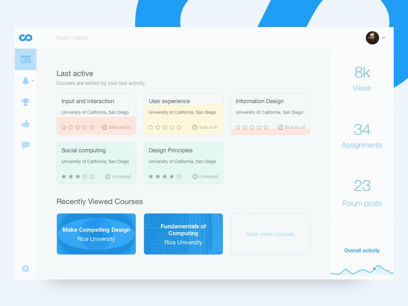 Coursera Dashboard Redesign Redesign Information Design Dashboard