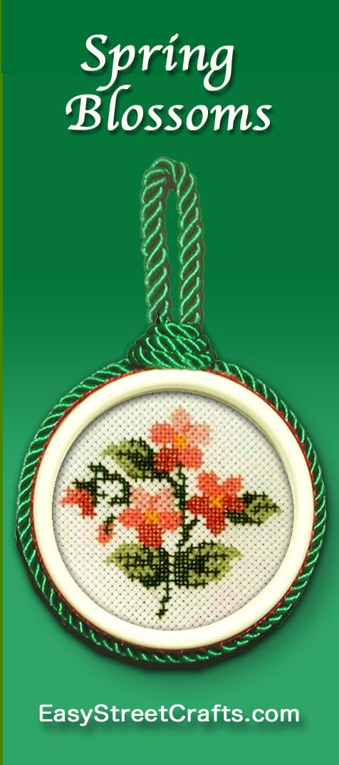 Framed in Circle double-sided Sweet Suspensions frame. Cross-stitch ...