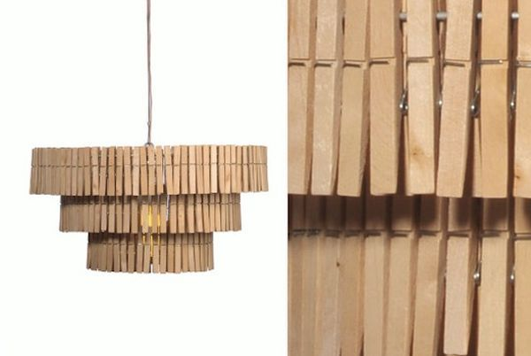 Clothespin Light Fixture, Because Iu0027m Obsessed With Clothespins. Cute In A  Laundry Room!