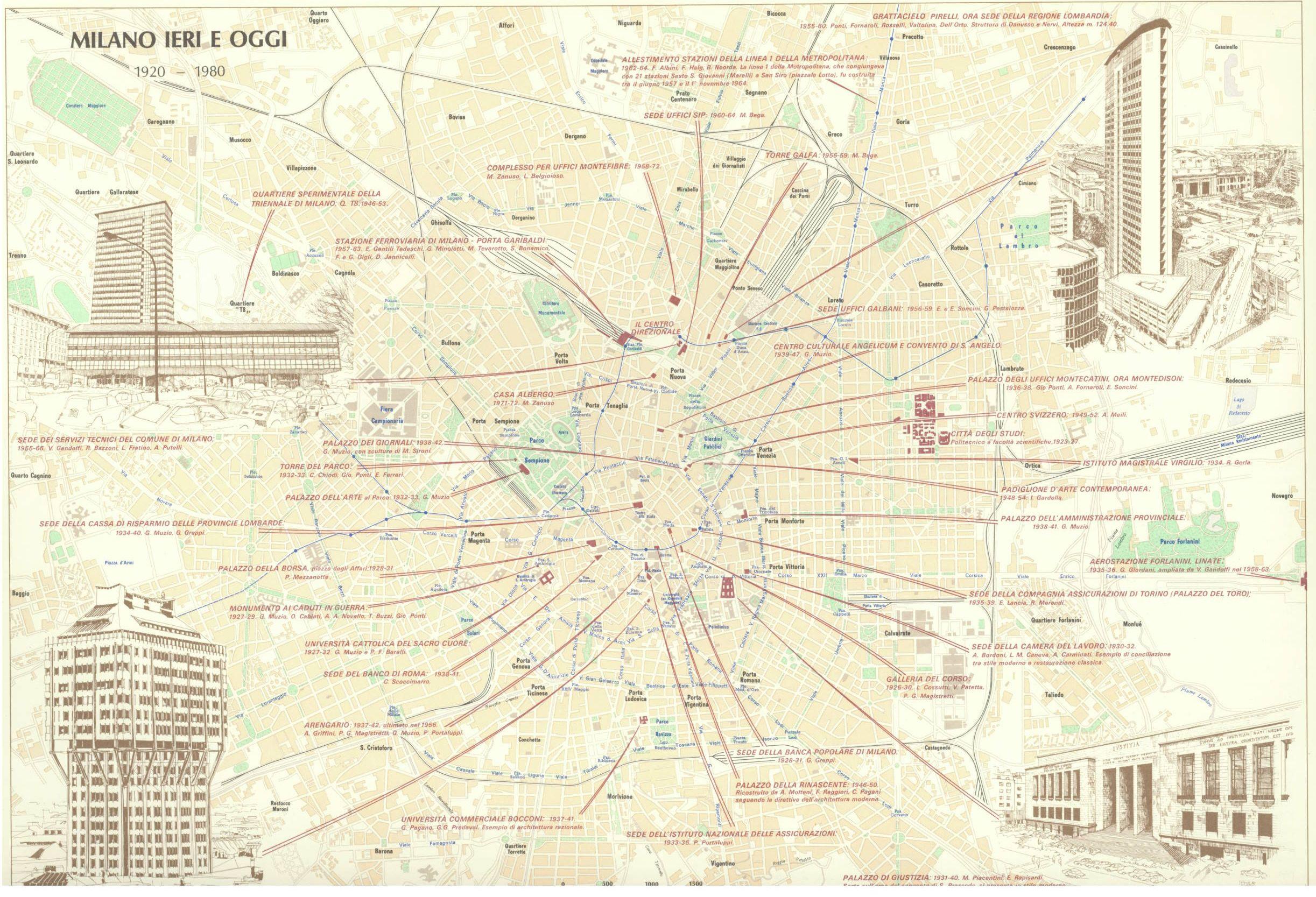 Pin su Milano map