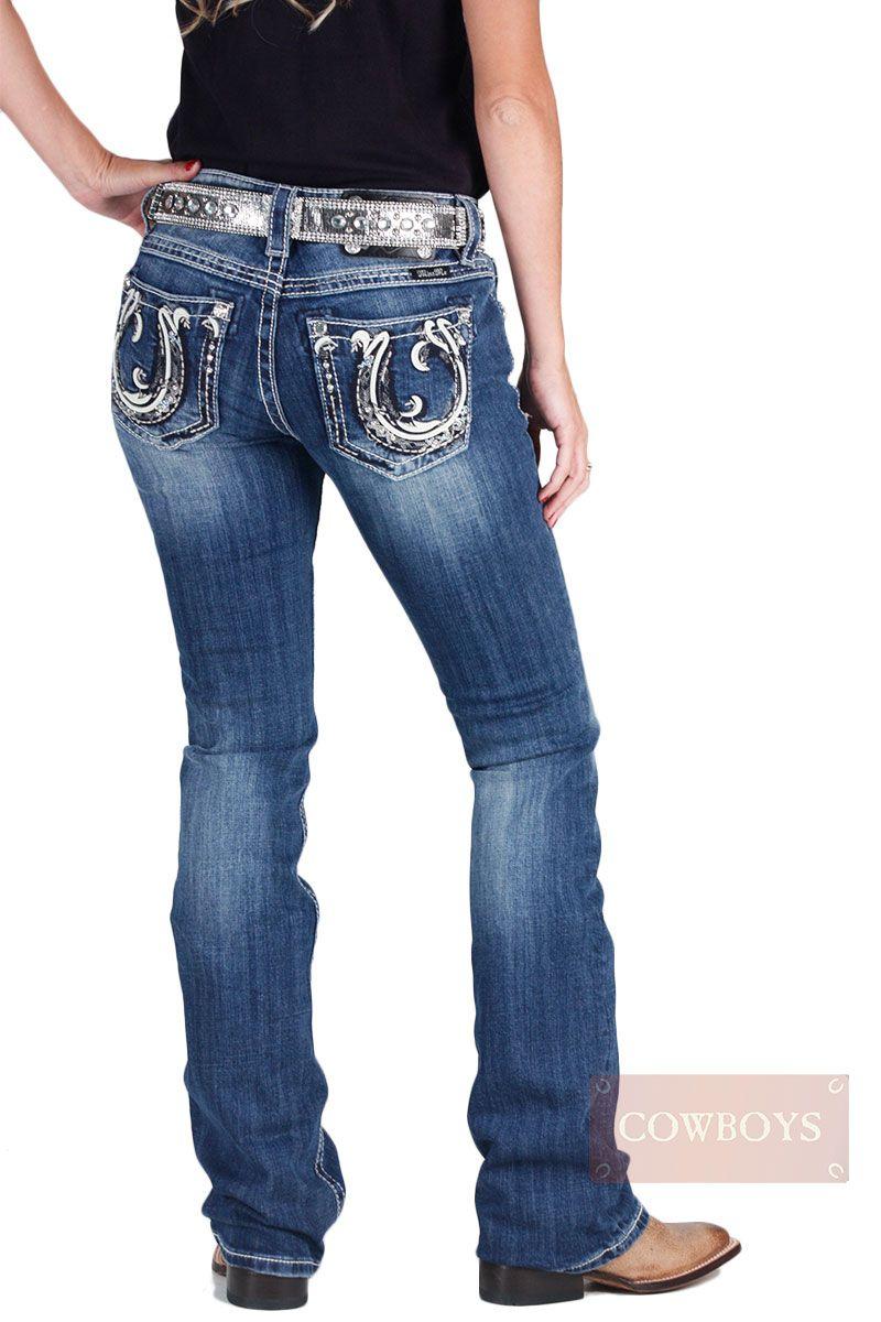 04137e779cfc2 Calça miss me Feminina Importada Medium Blue Stonada Ferradura e Cristais calça  feminina da marca Miss