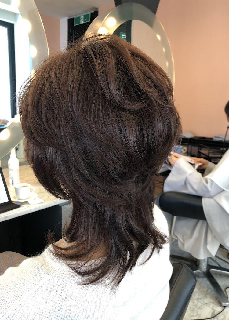 40代50代60代ヘアスタイル髪型 ミディアム 60代 ヘアスタイル レイヤーカットヘア ヘアスタイル
