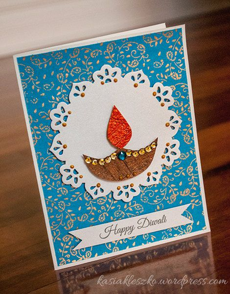 Handmade Diwali Card On Etsy With Images Handmade Diwali