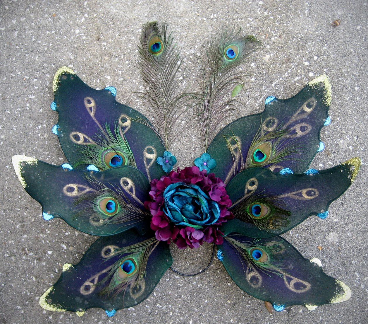 Custom adult fairy wings - fairy costume - cosplay - peacock woodland steampunk…